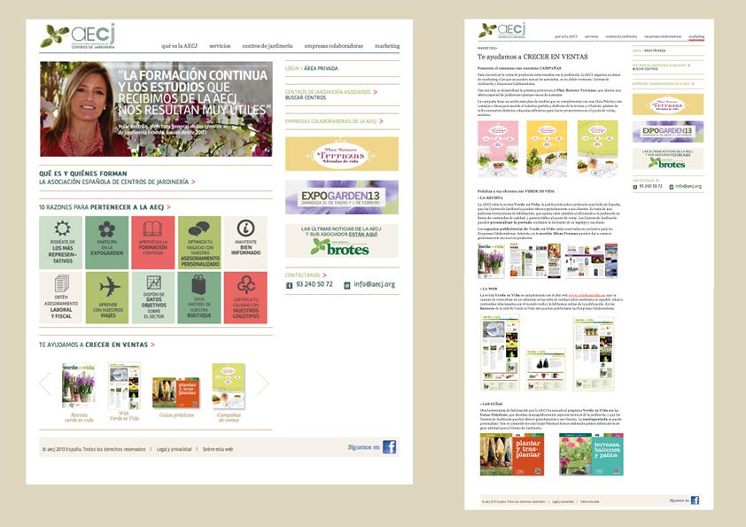 Web Asociación Española de Centros de Jardinería